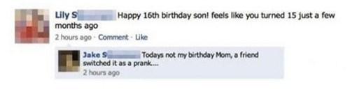 birthdays moms parenting pranks g rated - 7917310208