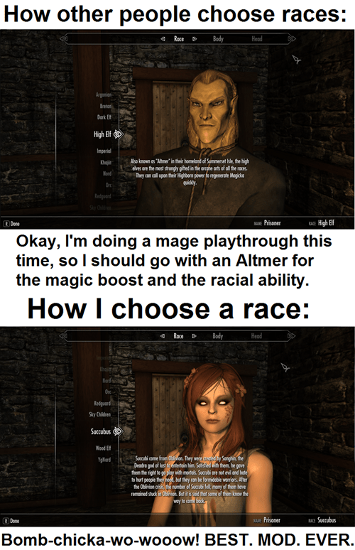 Only the Cutest of Mod Races for Me