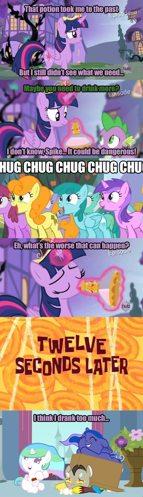chug chug chug,twilight sparkle,spike