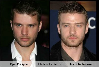 Justin Timberlake,ryan phillippe,funny,totally looks like