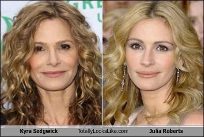 funny,totally looks like,julia roberts,kyra sedgwick