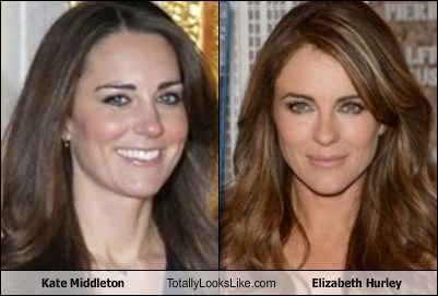 kate middleton,totally looks like,funny,elizabeth hurley