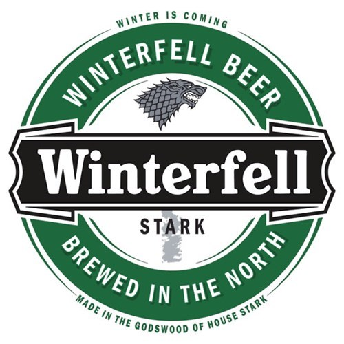 beer for sale Game of Thrones t shirts winterfell - 7918795520