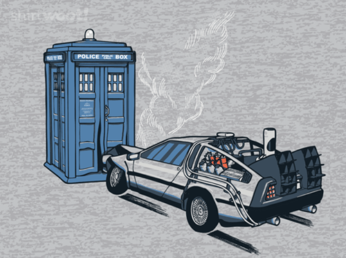 back to the future doctor who for sale t shirts time machine hoodies - 7918796800