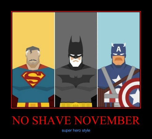 captain america batman no shave november superman