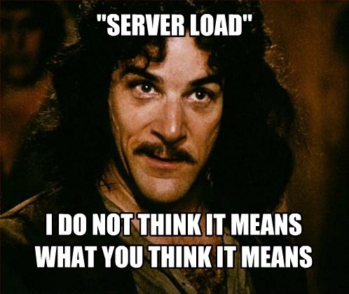 """SERVER LOAD"" I DO NOT THINK IT MEANS WHAT YOU THINK IT MEANS"
