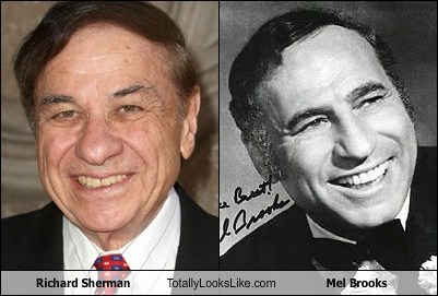 funny totally looks like mel brooks richard sherman - 7919228416