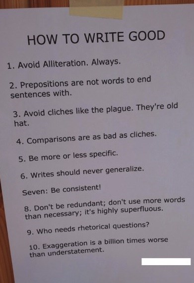 grammar writing tips