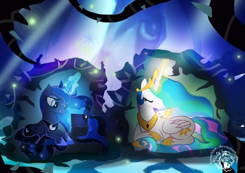 princess celestia princess luna time off - 7920584960