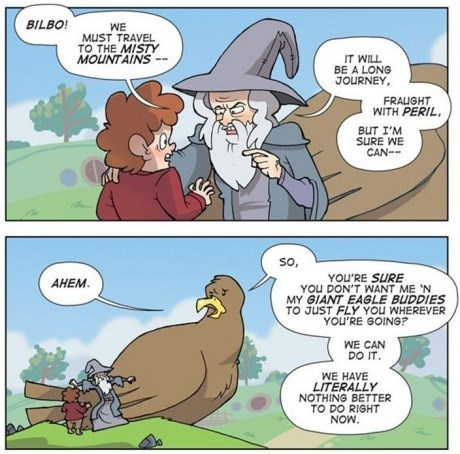 Lord of The Ring The Hobbit web comics - 7921464576