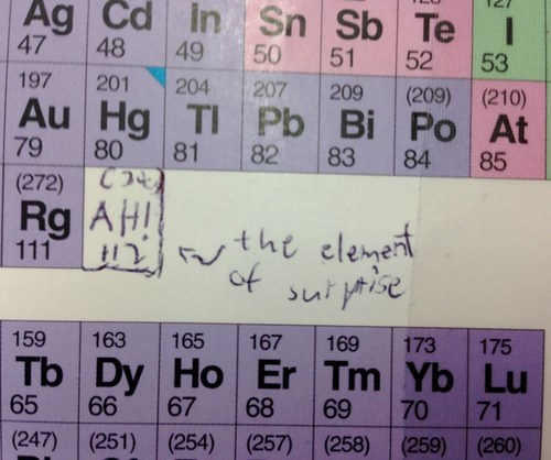 Chemistry,elements,surprise,science,puns