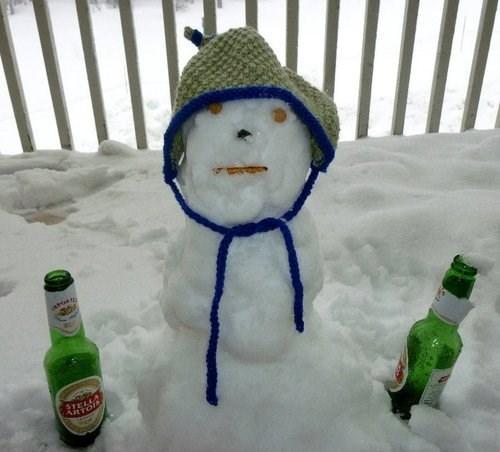 beer drunks funny snowmen - 7921566464