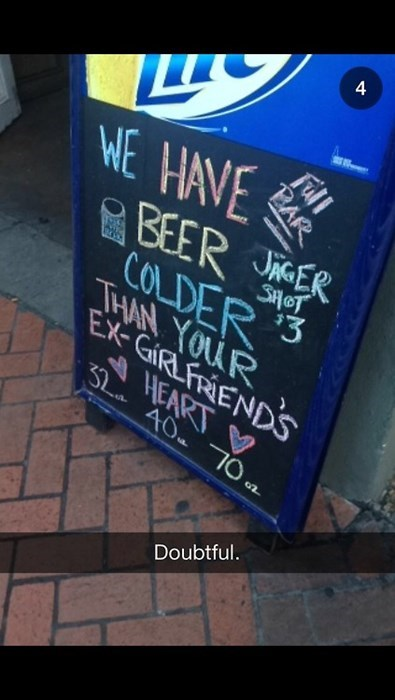 beer bar cold funny sign - 7921605120