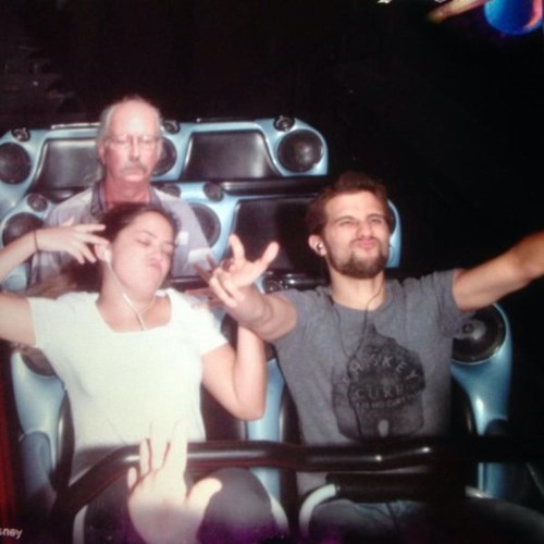 photobomb roller coasters