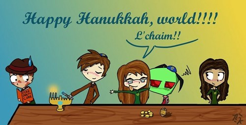 hanukkah Invader Zim Fan Art - 7921692672