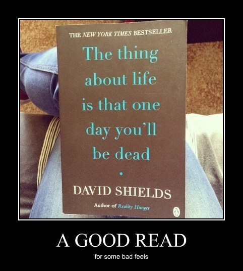 book,dead,depressing,funny
