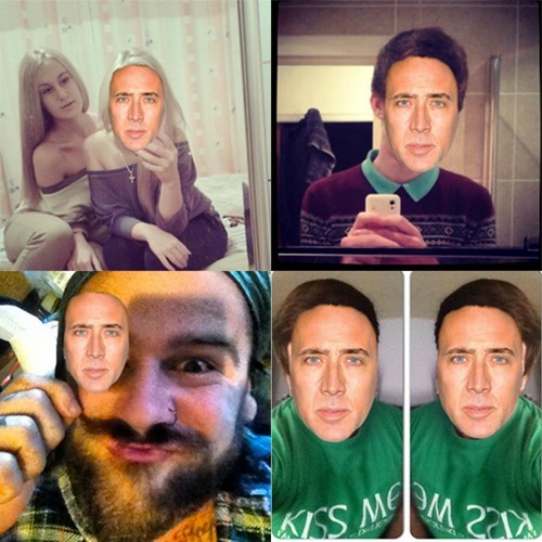 App,Photo,website,nic cage,selfie