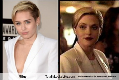 totally looks like,miley cyrus,elaine hendrix,funny