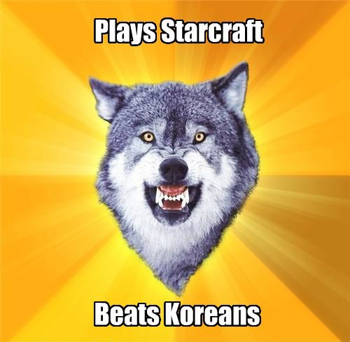 Plays Starcraft Beats Koreans
