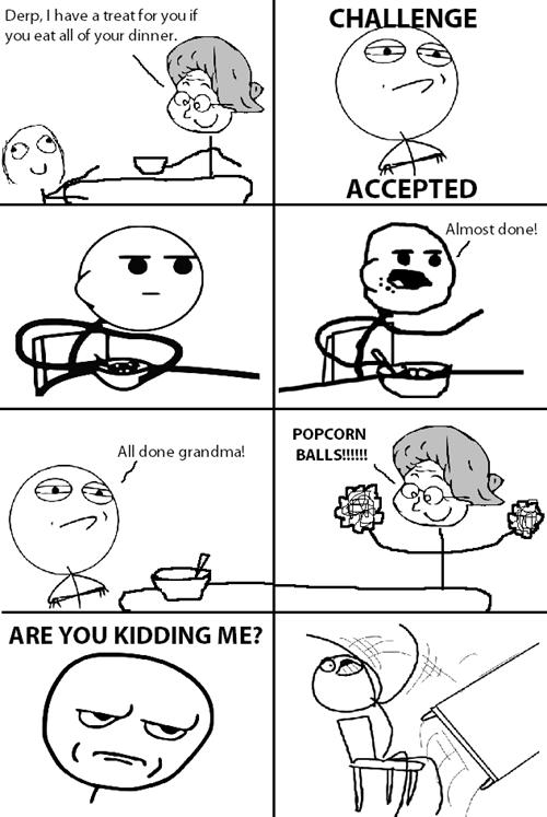 Challenge Accepted,grandmas,popcorn balls