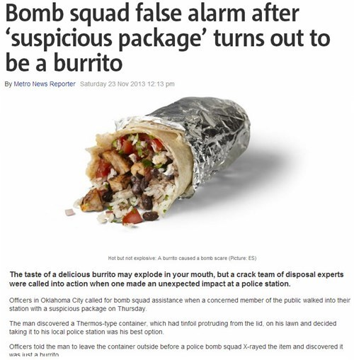 news burrito Probably bad News food funny - 7921917184
