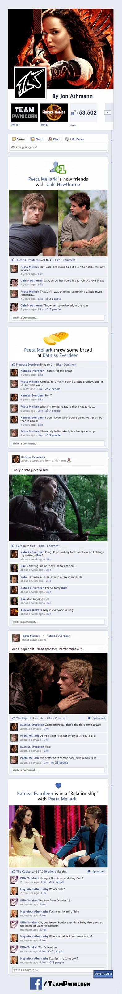 jennifer lawrence liam hemsworth catching fire hunger games on facebook hunger games katniss everdeen josh failbook hutcherson - 7922027008