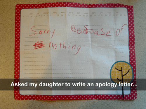 apology daughters kids parenting - 7922108928