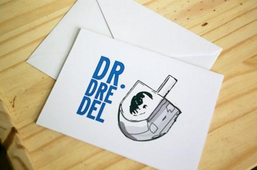 cards dr dre dreidel puns hanukkah - 7922311936