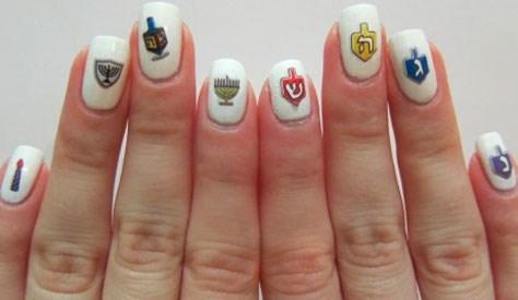 holidays nail art hanukkah - 7922321920