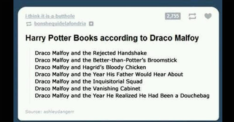 witty Harry Potter Daniel Radcliffe chamber of secrets tumblr mind blown clever dumbledore funny tumblr posts draco malfoy - 7923461