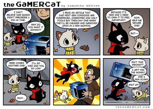 PlayStation 4,Cats,funny,web comics