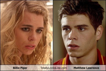 billie piper,matthew lawrence,totally looks like,funny