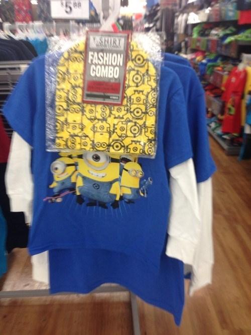 fashion combo despicable me shirt