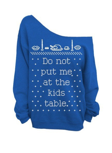 kid table thanksgiving sweaters family - 7924006144