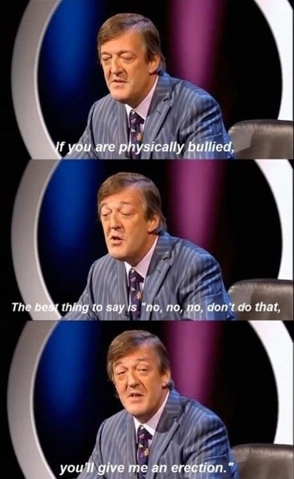 Stephen Fry advice bullying - 7924015360