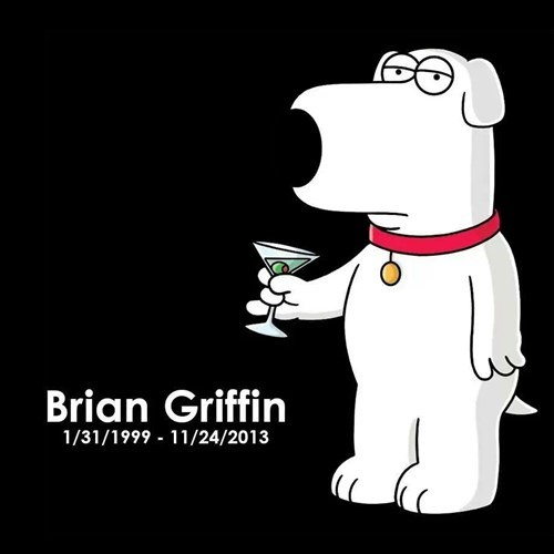 brian griffin family guy cartoons rip