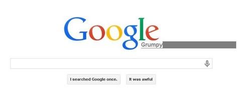Grumpy Google