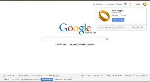 Lord of the rings Google.