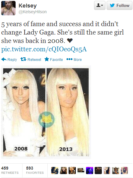 lady gaga funny jk totally looks like nicki minaj