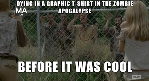 cool,hipster,The Walking Dead,graphic tee