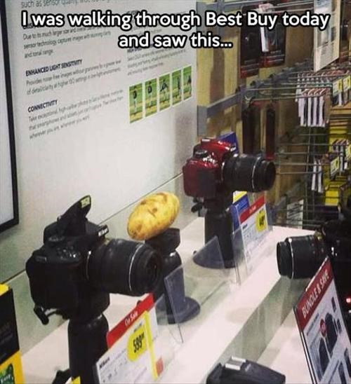 cameras shopping potato