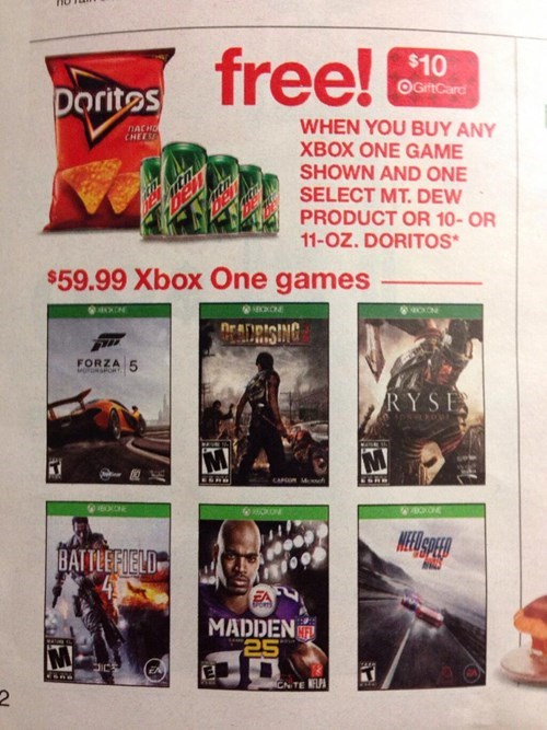 doritos,video games,sale,mountain dew,Target