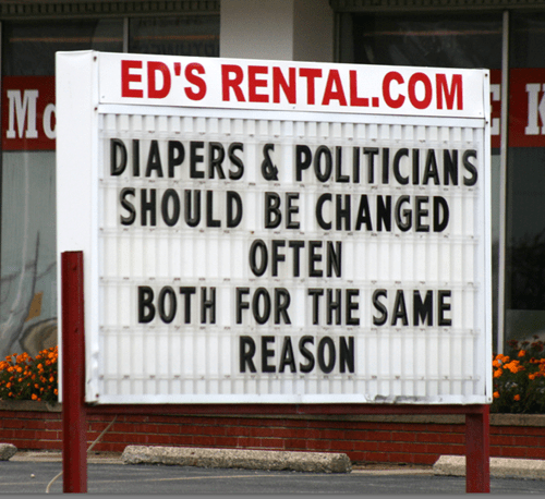 diapers funny politics sign g rated win - 7924560640
