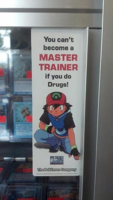 ash anti-drug drugs poster funny - 7924605184