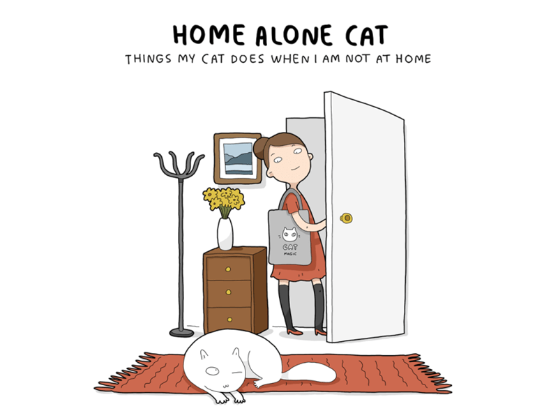 Home Alone animal comics Cats web comics - 7924997