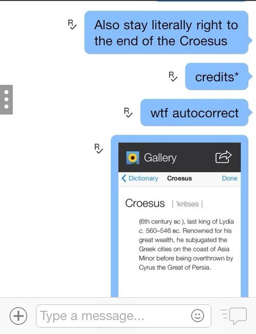 autocorrect credits text croesus - 7925408000
