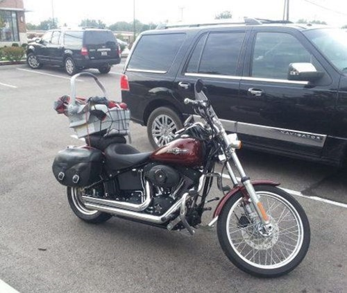 motorcycles there I fixed it bungee cords baby carriers - 7925615872