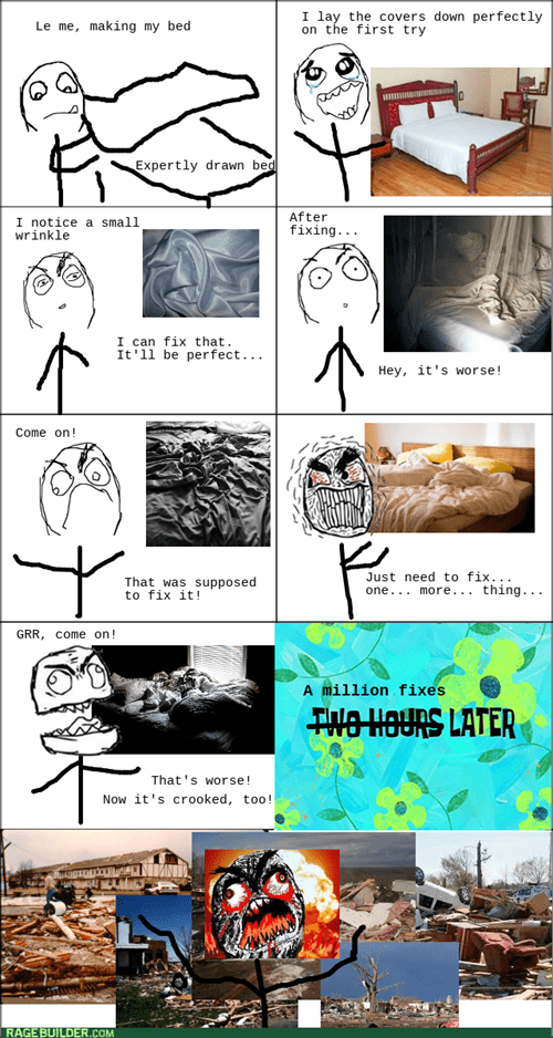 perfectionism rage making the bed - 7925635072
