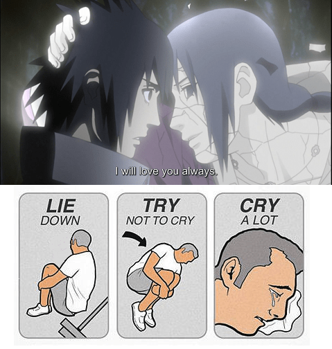 anime naruto try not to cry itachi uchiha - 7925636608