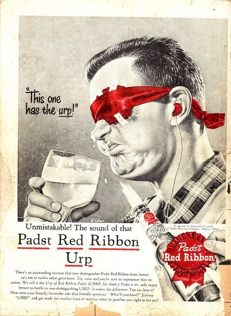 beer ads funny pabst blue ribbon padst red ribbon - 7925724416